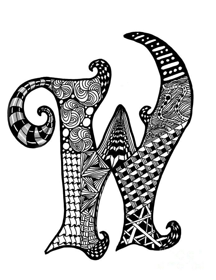 17 Best images about Zentangle® Letters and Words on