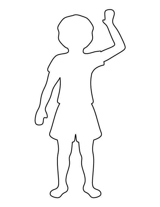 Child pattern. Use the printable outline for crafts