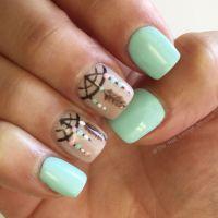 25+ best ideas about Mint green nails on Pinterest