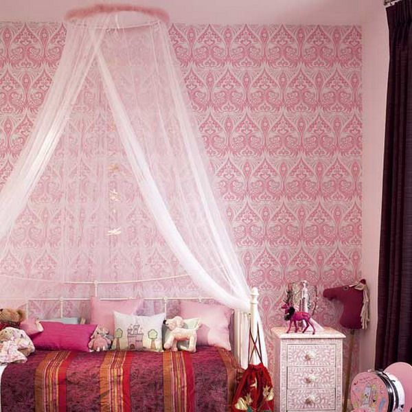 little girls pink bedroom with canopy bed 29 best images about DIY Canopy Bed Curtains on Pinterest | Canopy curtains, Curtain rods and