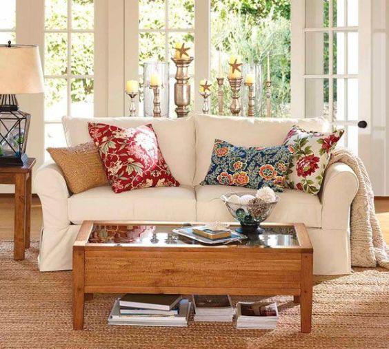 Resultado de imagem para almofadas estampadas na decoração