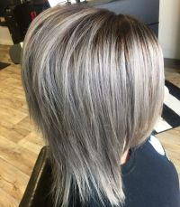 Gray hair, silver Metallics, Kenra color