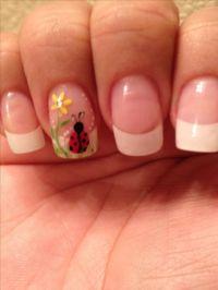 Ladybug nail Art!!!