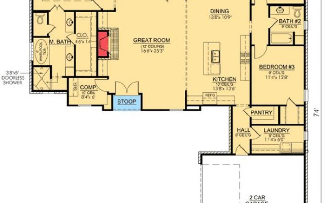 35 Best Images About House Plans Under 2000 Sq Ft On