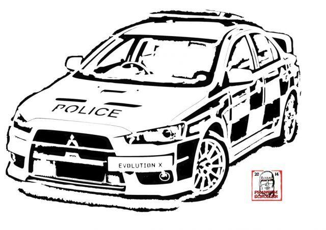 Mitsubishi Lancer Evolution X UK Police Car