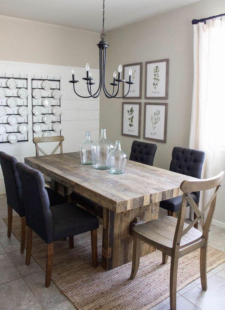 Modern Farmhouse Dining Room  DIY Shiplap  Home Sweet