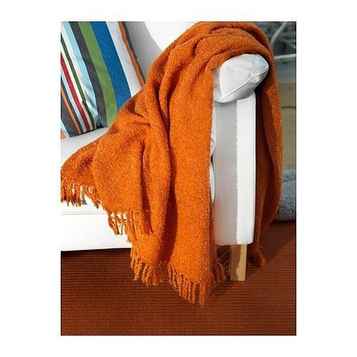 New Ikea RITVA Throw Blanket Orange Mohair Fringed Trim Throw Blankets Ikea And Blankets