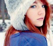 red orange hair & blue eyes