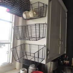 Kitchen Cabinet Stores Cost Of Renovating A Easy And Inexpensive Storage Solutions. Wire Baskets From ...