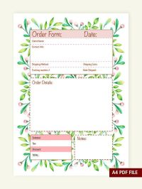 Cute Order Forms Pictures to Pin on Pinterest - PinsDaddy