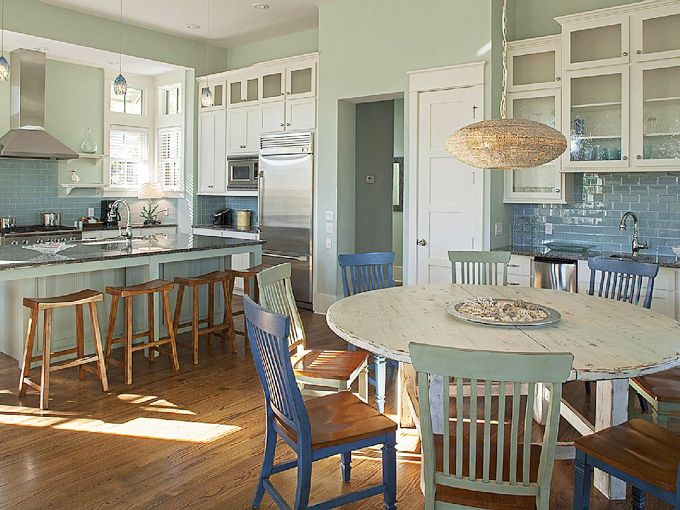 Beach House Kitchen Dining Area Serenity Lake Front Home Dining Rooms Pinterest Table