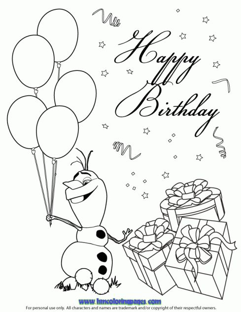 10+ images about Disney Frozen Birthday Coloring Pages on