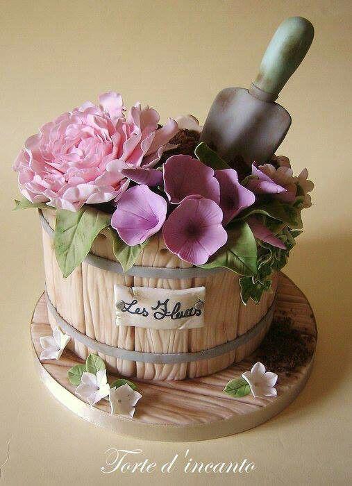 The 25 Best Ideas About Garden Cakes On Pinterest Garden