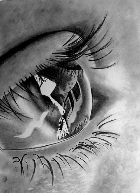 Photorealistic pencil drawing Love the eyelashes! the