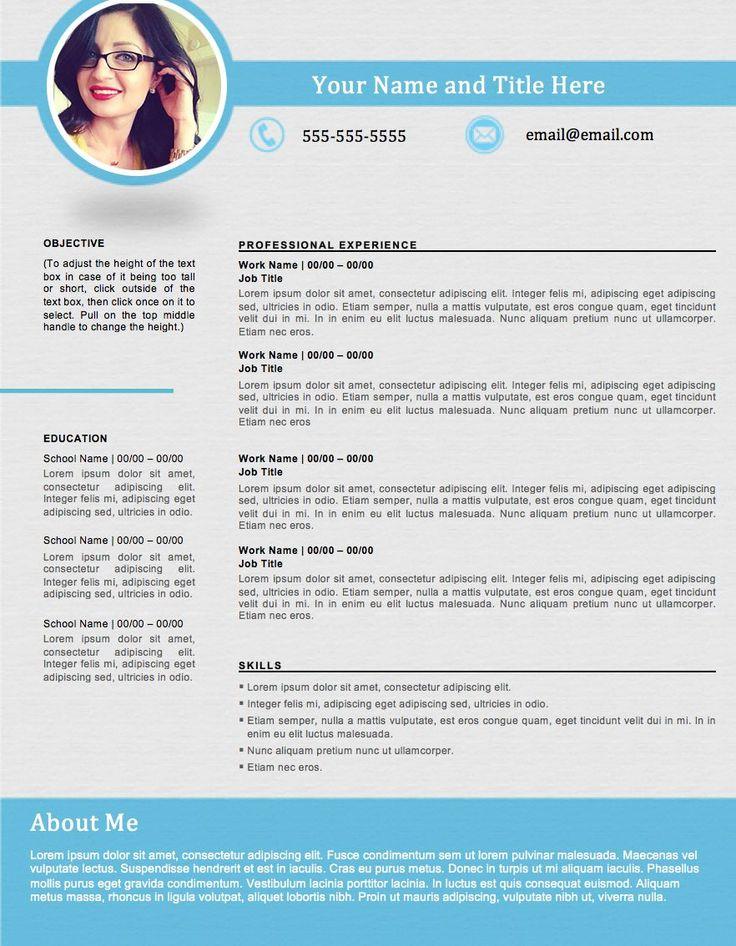 modern resume layout 2017