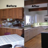 before/after- affordable reno with counter top and cabinet ...