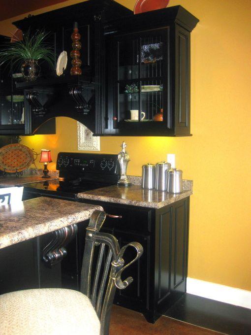 Yellow Kitchen Walls With Dark Cabinets