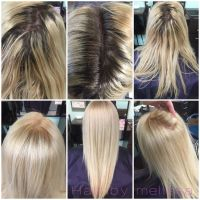 Before and after using redken extra lift LN and B at root ...