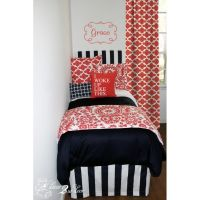 51 best images about Coral and Navy Bedding and Decor on ...