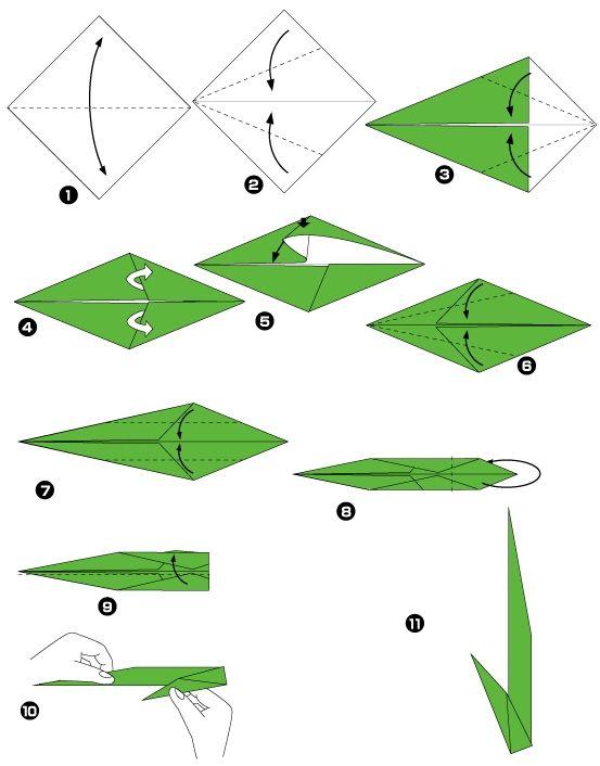 California Poppy Origami Diagram Origami Flowers Pinterest