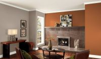 Valspar Orange Glaze living room | Paint colors I like ...