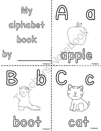My Coloring Alphabet book from TheBilingualSpot on