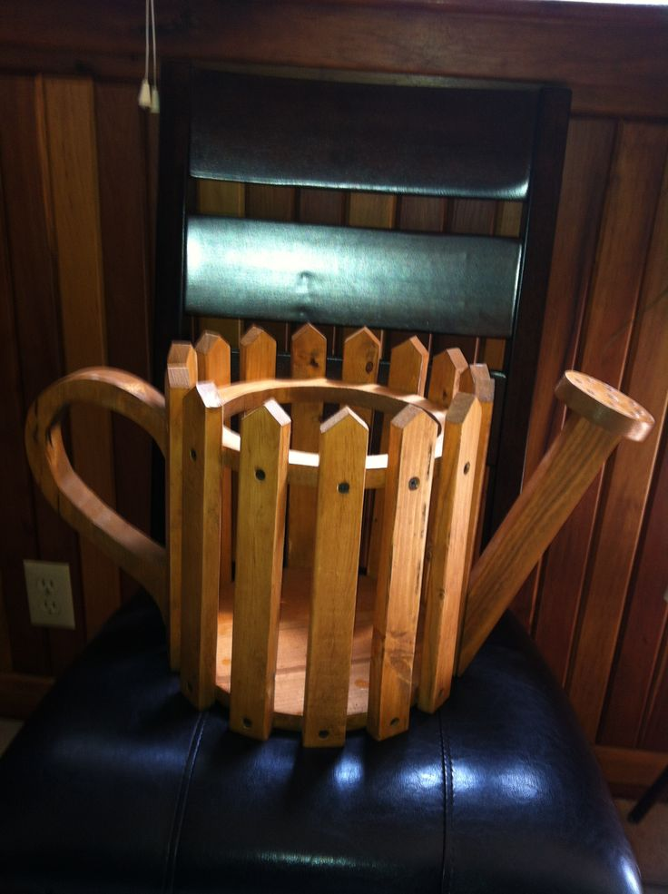 Wooden watering can flower planter  For the Home