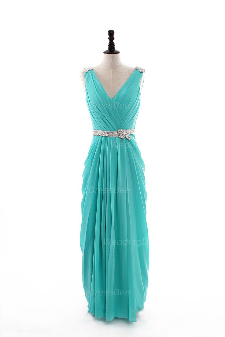 Sexy V-neck chiffon floor-length dress