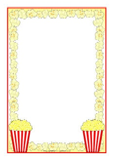 Popcorn A4 page borders SB8252 SparkleBox Makes a