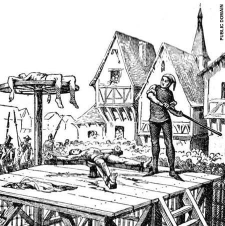 THE BREAKING WHEEL This form of execution was used in