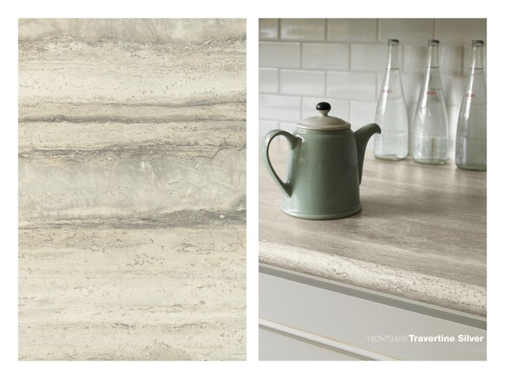 Slate Laminate Countertop 180fx 3458 Travertine Silver | Counter Tops And