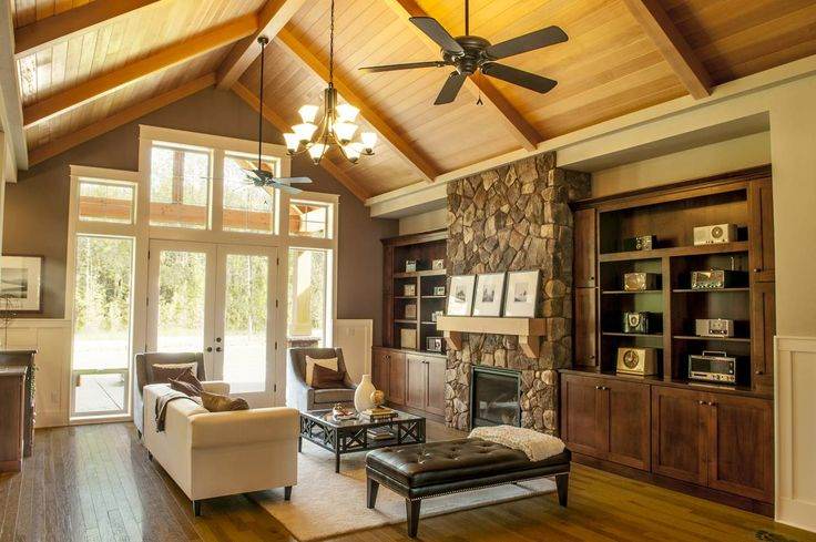 Mascord House Plan 22157AA Fireplaces French Doors And Built Ins