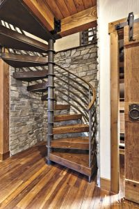 Neutral Mountain Spiral Staircase Alcove | Luxe | Halls ...