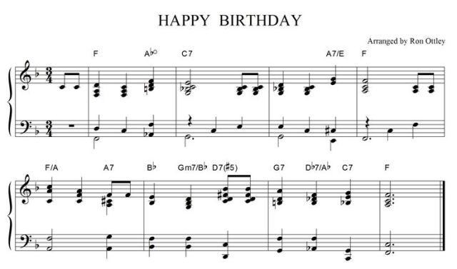 Happy birthday arrangement adult beginners forum piano