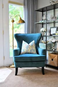 25+ best ideas about Blue accent chairs on Pinterest