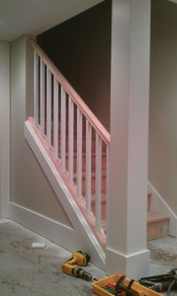 Basement Stair - removing part of the wall and replacing ...