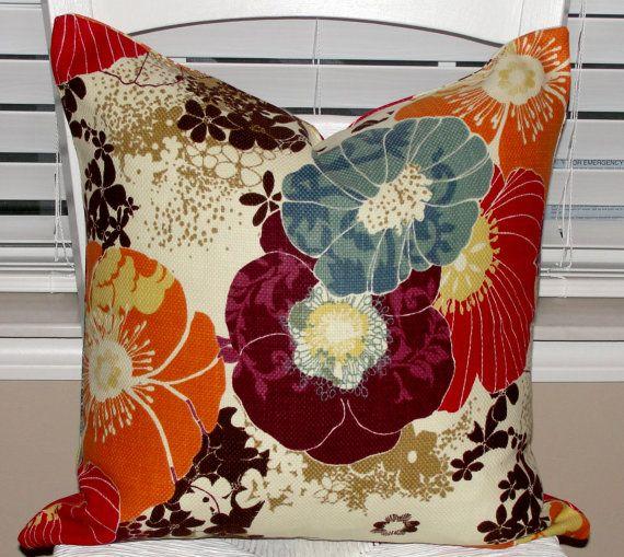 chocolate brown living room chairs coastal themed ideas designer throw pillow cover 18x18 richloom amelia graffiti ...