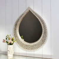teardrop shaped mother of pearl mirror | Mother of Pearl ...
