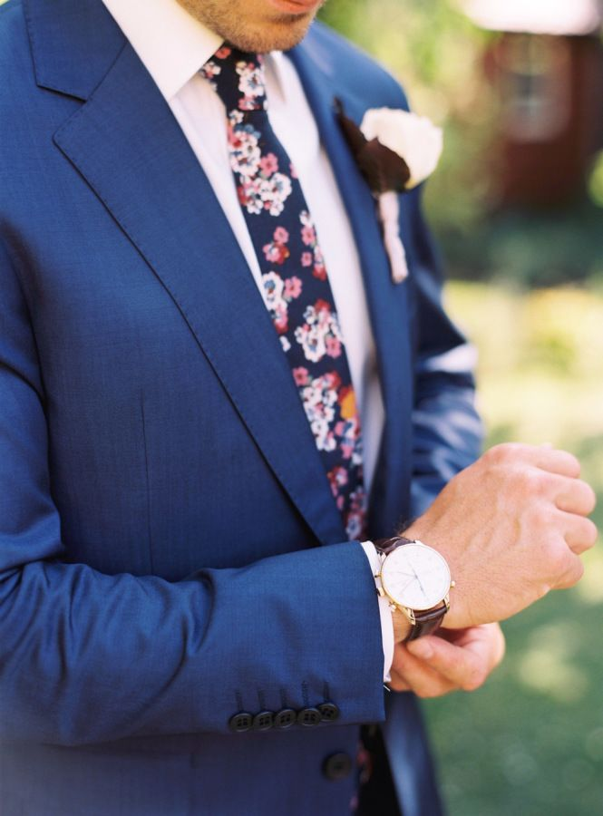 25 best ideas about Floral Tie on Pinterest  Groom wedding blazers Casual groom inspiration