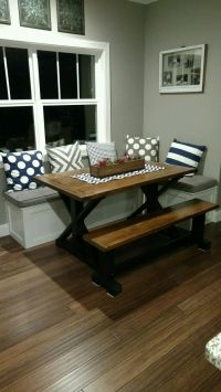 17 Best ideas about Kitchen Booth Table on Pinterest