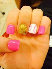 ideas softball nails