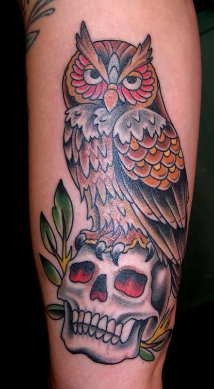 20 Turning To Owel Skull Tattoos Ideas And Designs