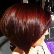 cherry red color hair & makeup