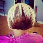 two tone bob hairstyles black women