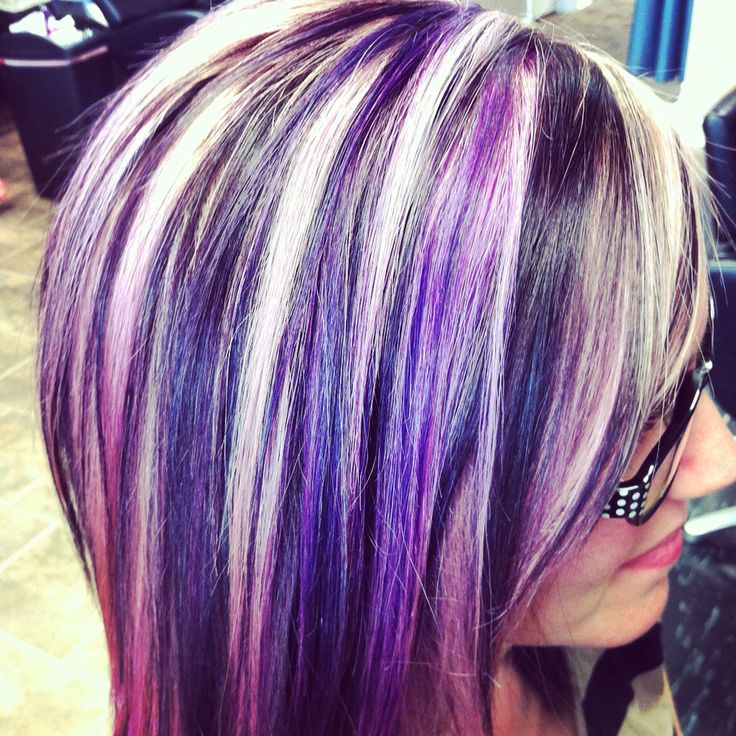 25+ Best Ideas about Purple Peekaboo Hair on Pinterest