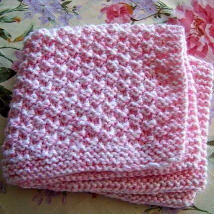 Hand Knitting Tutorials Box Stitch Baby Blanket  Free
