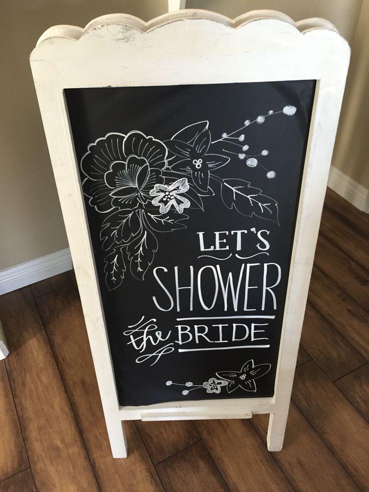 Chalkboard Bridal Shower Invitations