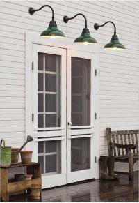 Double screen doors, barn light sconces   exterior details ...