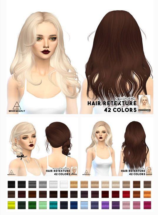 Miss Paraply Hair Retexture Newsea Hairs Sims 4