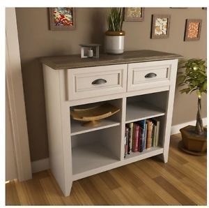 Entryway console table, Drawer shelves and White oak on